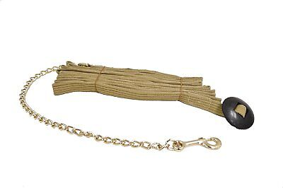 """Partrade 25' Lunge Line with 30"""" Lead Chain and Rubber Stopper Tan"""