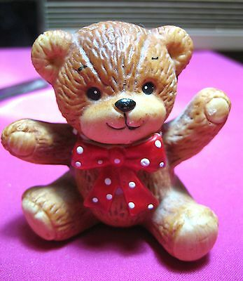 Vintage Enesco 1979 Rigglets Lucy Rigg & Me Replacement Twin Bear w Red Polkadot