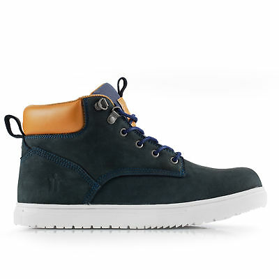 Scruffs Mistral Safety Work Boots Navy Blue Trainers Steel Toe Cap Free Hat