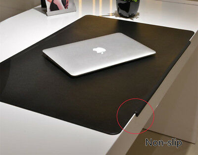 Large PVC Leather Mat Non-slip Desk Table Mouse Keyboard Pad Home & Office Black