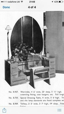 Art Deco 1950's Dressing Table With Original Mirror