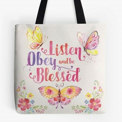 """Listen Obey and be Blessed"" Tote Ministry Ideaz"