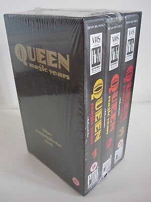Queen  :  Magic Years 1, 2 & 3 Complete Box Set 1987 Uk Vhs Videos - Mint Sealed