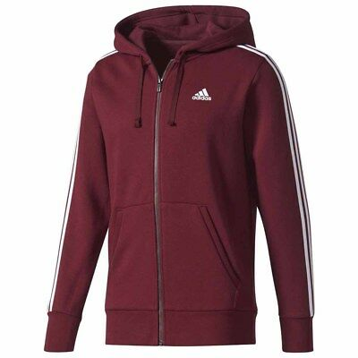 Adidas 3 Stripes Full Zip Fleece Hoodie Jerseys