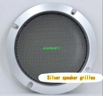 "1pcs 2""-10""inch Speaker grilles Protective cover Decorative circle/net Silver"