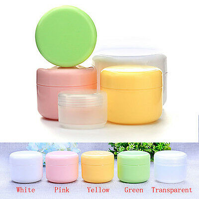 10pcs 20ml Clear Plastic Cosmetic Sample Container 5 Grams Jars Pot Small Empty