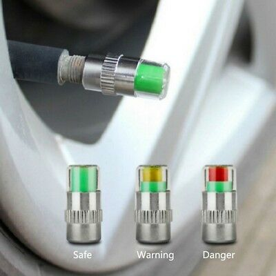 4x Eye Alert Sensor Indicator Car Vehicle Auto Tire Pressure Monitor Warning Cap