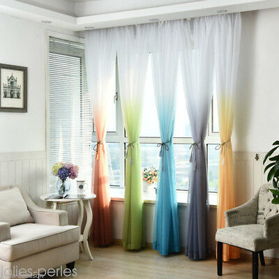 New Gradient Color Soft Semi-shading Home Bedroom Curtains Window Drapes