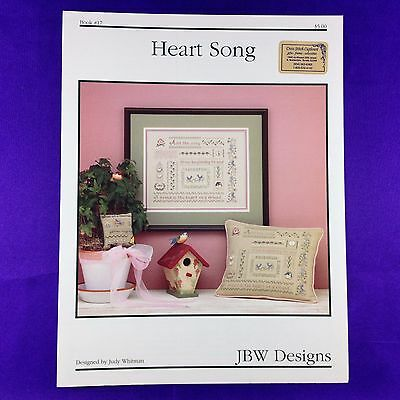 "Vintage Cross Stitch Booklet Chart Sampler ""Heart Song"" by JBW Designs"