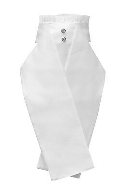 Equetech Rosetta Deluxe Ready-Tied Stock WHITE One Size + Worldwide Shipping