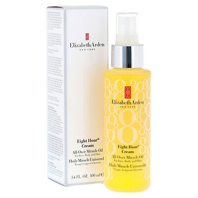 ❤ Elizabeth Arden 8 Eight Hour Cream All-Over Miracle Oil 100ml Face Body Hair ❤