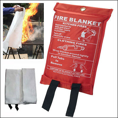 Fire Blanket Extinguisher Wall Kitchen Home Kitchen Heavy Duty Quick Release