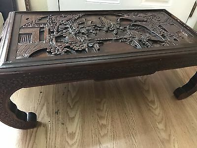 Antique 19Th Century Asian-Chinese?rosewood Table W/drawer
