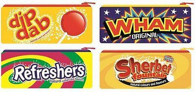 RETRO SWEETS PENCIL CASES Wham, Refreshers, Dip Dab - Personal Stationery School