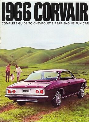 1966 Chevrolet Corvair Monza Corsa 500 Dealer Sales Brochure