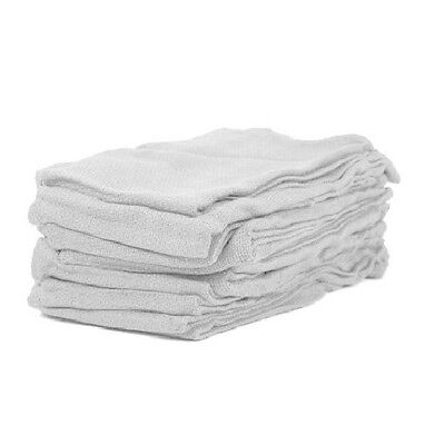 24 new premium white huck towels surgical glass cleaning crafts 100% cotton