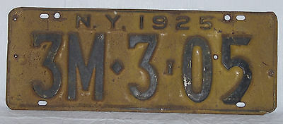 Antique New York State 1925 License Plate