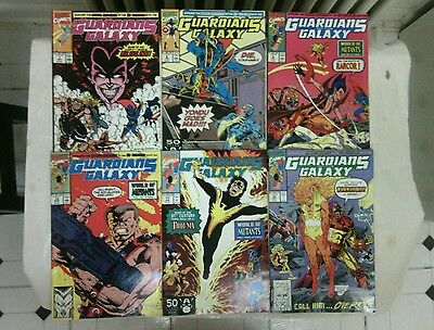 The Original Guardians of the Galaxy comic book lot 2 issues #7-12(Marvel,1990s)