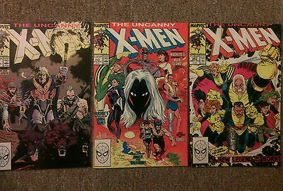 The uncanny x-men issues #252 253 254 comic book lot(Marvel,1980s)