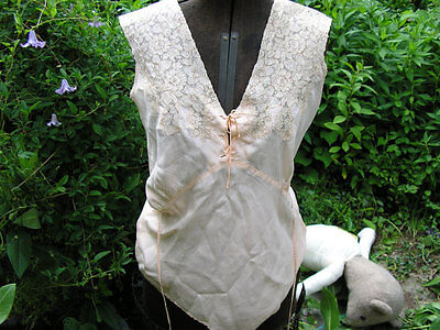 Rare 1930-1946 Depression, WWII Size Small (S) Vintage Silk Couture Camisole