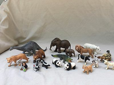 Large Lot 18 Genuine Schleich Wild Life, Dinosaurs, Zoo!