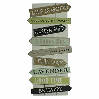 Garden Quotes Wall Feature - Garden Wall Plaque - Friends Gift Idea