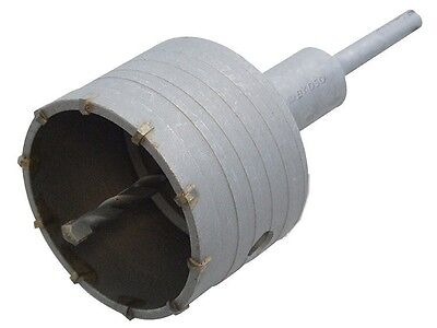 """100mm TCT CORE DRILL WITH 200mm HEX ARBOR (  4"""" Brick wall hole cutter tool )"""