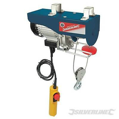 Silverstorm 900W Electric Hoist 500kg half ton Winch For workshop Garage 442463