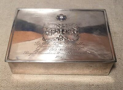 Carl Poul Petersen Sterling Silver Royal Canadian Army Service Corps WWII Box
