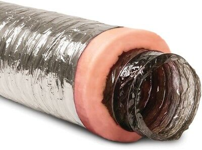 Polyester Flexible Duct Insulated Fiberglass Reinforcing Scrim 8-in x 25-ft New