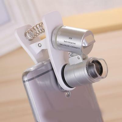 60X Zoom 3 LED Magnifier Clip Microscope For Tablet Ipad Mobile Phone PC New