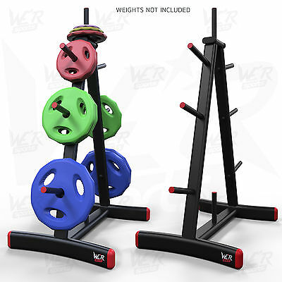 "We R Sports Standard Weight Plate Tree Rack Stand Storage For 1"" Plates Discs 8"