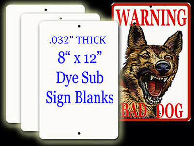 "Aluminum Dye Sublimation Parking Sign Blanks 10 pieces.032"" thick x 8""x 12"""