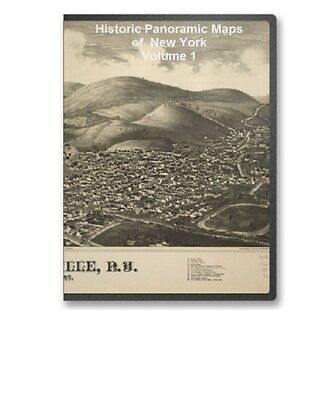 New York NY - 90 Vintage Panoramic City Maps on CD V1 - B177