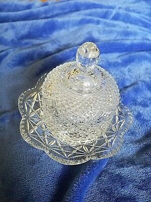 Pre owned Avon crystal butter dish