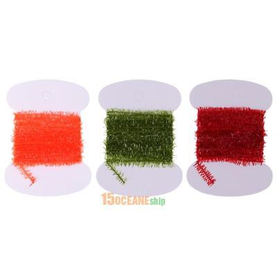 3M Fishing Tinsel Chenille Crystal Flash Line Fly Tying Streamer Flies Material