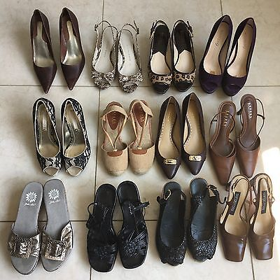 Lot Of 12 Shoes Heels Designer Name Brand Sz 6 Coach Ralph Lauren KORS Resale