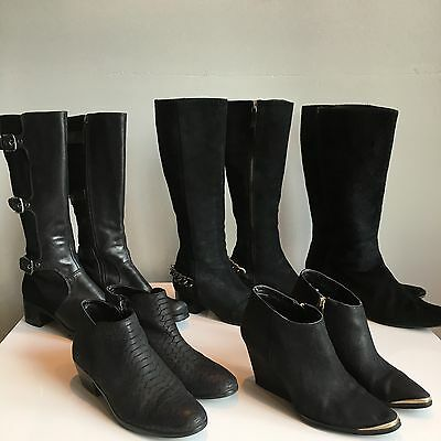 Lot Of 5 Ankle Boots Booties Designer Sz 6-7 Resale Michael Kors Sam Edelman