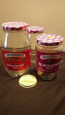 """Vintage """"SMUCKER'S"""" Jelly Jar Lot  *2 with Labels*  + Extras"""