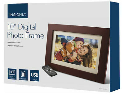 "Insignia - 10"" Widescreen LCD Digital Photo Frame Espresso - In Retail Box - UD"