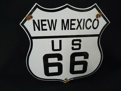 Vintage Route New Mexico Us 66 Porcelain Sign (Colletion From The 1960's)
