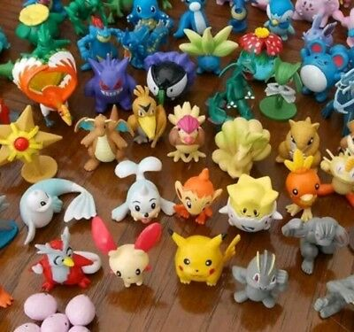 24pc Bundle Mix Mini Pokemon Figures Gift Pikachu Snorlax Squirtle Toy Doll Play