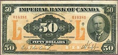 Imperial Bank of Canada, $50, 1923!
