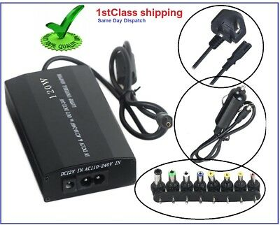 Power Supply Universal Adapter Charger for Multi Laptop Notebook 120 W & 8 tips