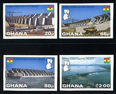 Ghana Scott# 799-802 Hydroelectric Plant Imperf Set Mnh