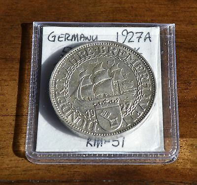 West Point Coins ~ Germany 1927 A 5 Reichmark (1 of 50,000 Minted) - RARE!