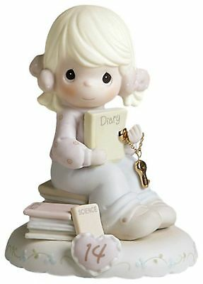 Precious Moments  Growing In Grace Age 14 Bisque Porcelain Figurine Blond... NEW