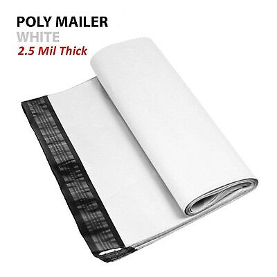 500 - 9x12 White Poly Mailers Shipping Envelopes #3 Bags 2.5Mil 9 x 12