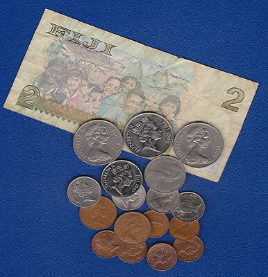FIJI - Bulk Current Coins & Banknote - for Collectors or Travellers -  Nice Mix
