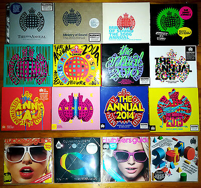 MINISTRY OF SOUND: BULK LOT 36 CDs (THE ANNUAL 2004 to 2015) 2014 2013 2012 2011